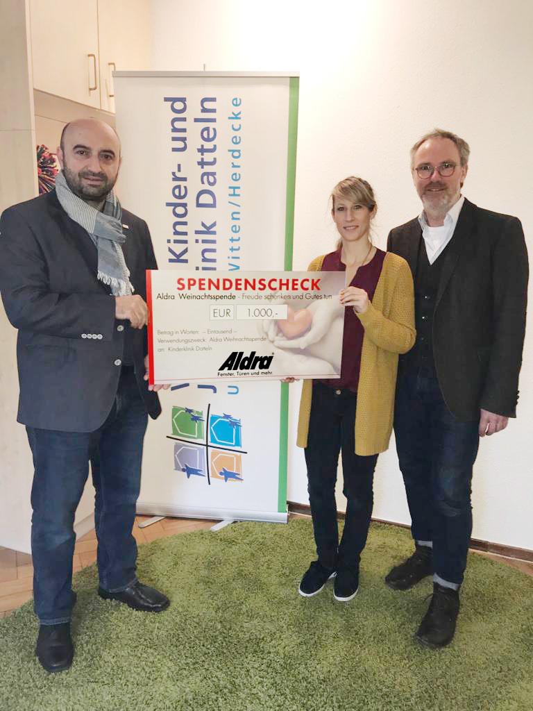 Aldra spendet 1000 Euro gegen Kindesmissbrauch in Datteln