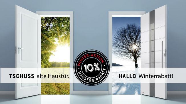 Winteraktions-Flyer Haustür-Rabatt